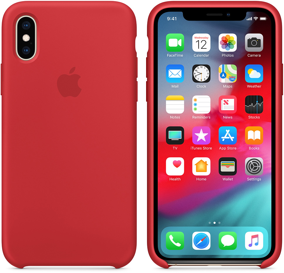 Чехол Apple Silicone (MRWC2ZM/A) для iPhone Xs (PRODUCT RED)