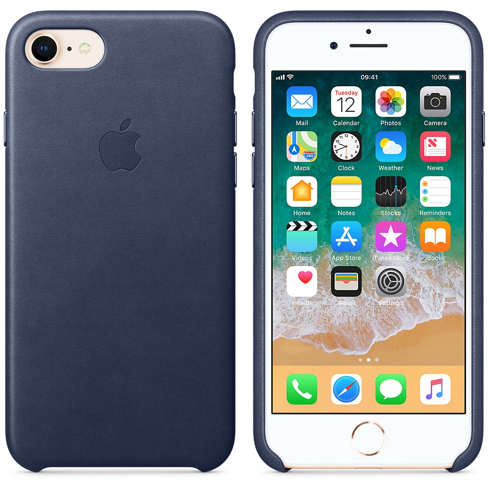 Apple Leather Case iPhone 7/8 Midnight Blue