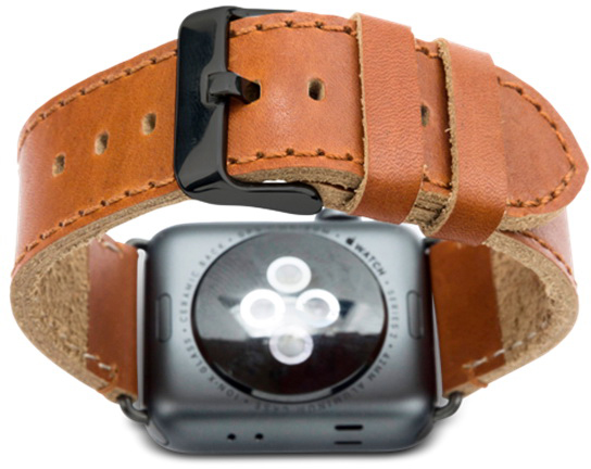 Ремешок Dbramante1928 Copenhagen Watch Strap (AW42DSSG0883) для Apple Watch 42mm (Dark Saddle Brown/Space Gray)