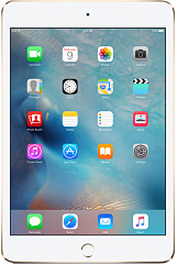 Купить Планшет Apple iPad mini 4 128Gb Wi-Fi+Cellular MK782RU/A (Gold)
