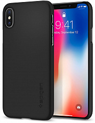 Купить Чехол Spigen Thin Fit (057CS22108) для Apple iPhone X (Matte Black)