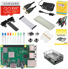 Купить Набор CanaKit Raspberry Pi 3 B+ 32Gb Ultimate Starter Kit (Clear Case)