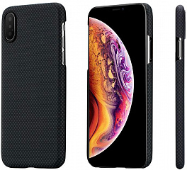 Купить Чехол Pitaka Aramid Case Plain (KI8002XS) для iPhone XS/X (Black/Grey)