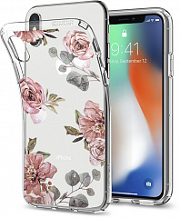 Купить Чехол Spigen Liquid Crystal (057CS22623) для Apple iPhone X (Aquarelle Rose)