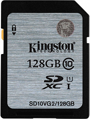 Купить Карта памяти Kingston SDXC 128Gb Class 10 U1 UHS-I SD10VG2/128G (Black)