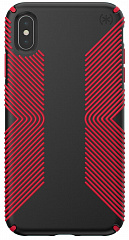 Купить Чехол Speck Presidio Grip (117106-C305) для iPhone Xs Max (Black/Dark Poppy Red)
