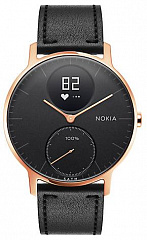 Купить Умные часы Nokia Steel HR 36mm + Leather Wristband (Rose Gold/Black)