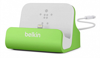 Док-станция Belkin Charge + Sync Dock (F8J045btGRN) для iPhone/iPod (Green)