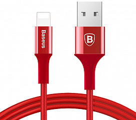 Купить Кабель для iPod, iPhone, iPad Baseus Shining Cable with Jet metal 1m USB to Lightning CALSY-09 (Red)