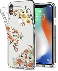 Купить Чехол Spigen Liquid Crystal (057CS22785) для Apple iPhone X (Aquarelle Primrose)