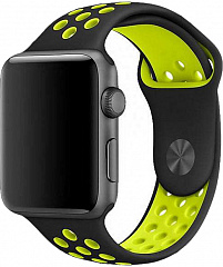 Купить Ремешок COTEetCI W12 (WH5216-BK-YL) для Apple Watch series 2/3/4 38/40mm (Black/Yellow)
