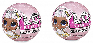 Купить Кукла-сюрприз LoL Surprise! Glam Glitter Series 2 Pack (Pink)