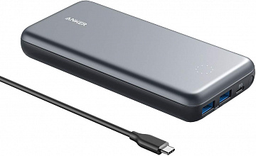 Купить Внешний аккумулятор Anker PowerCore+ 19000 PD Hybrid Portable Charger USB-C A1262 (Black)