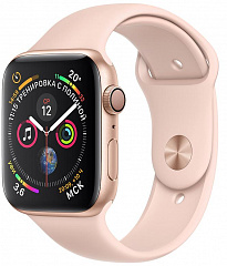 Купить Умные часы Apple Watch Series 4 44 mm (Gold/Pink Sand)