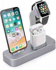 Купить Док-станция COTEetCI Base19 (CS7201-GY) для Apple Watch/iPhone/AirPods (Space Gray)