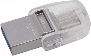 Купить Флеш-накопитель USB/USB Type-C Kingston DataTraveler microDuo 3C 32 Gb (DTDUO3C/32GB)