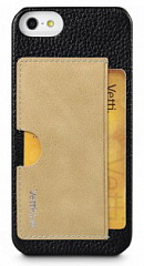 Купить Чехол Vetti Prestige Series Leather Snap Card Holder (IPO5LESCHBKLC4) для iPhone 5/5S/SE (Black/Vintage Khaki)