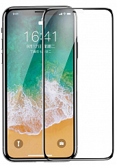 Купить Защитное стекло Baseus 0.23mm Drop-proof Curved Full Screen Tempered Glass Film для iPhone X (Black)