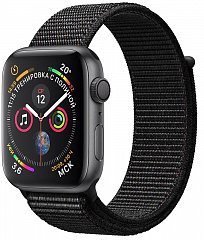 Купить Умные часы Apple Watch Series 4 44 mm with Sport Loop (Space Grey/Black)