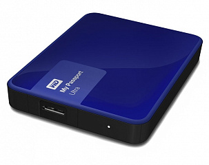 Купить Внешний жесткий диск Western Digital My Passport Ultra 1Tb USB 3.0 WDBDDE0010BBL-EEUE (Blue)