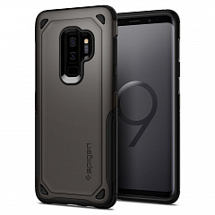 Купить Чехол Spigen Hybrid Armor (593CS22930) для Samsung Galaxy S9 Plus (Gunmetal)