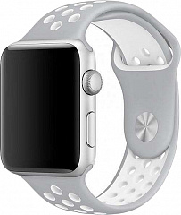 Купить Ремешок COTEetCI W12 (WH5217-TS-WH) для Apple Watch series 2/3/4 42/44mm (Silver/White)