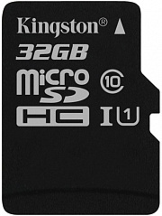Купить Карта памяти Kingston microSDHC 32Gb Class 10 U1 UHS-I SDC10G2/32GBSP (Black)