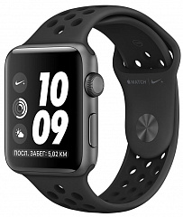 Купить Умные часы Apple Watch Nike+ Series 3 42 mm (Space Grey/Black Sport Band)