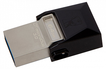 Купить Внешний накопитель Kingston DataTraveler microDuo 3.0 USB 3.1/MicroUSB 64Gb DTDUO3/64GB (Black)