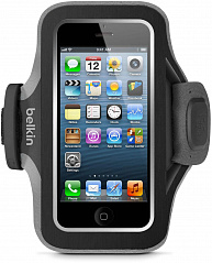 Купить Спортивный чехол Belkin Slim-fit Plus Armband (F8W299vfC00) для iPhone 5/5S (Dark Grey)