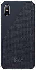 Купить Чехол Native Union Clic Canvas (CCAV-NAVY-NP18L) для iPhone Xs Max (Marine)