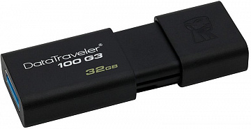 Купить USB-накопитель Kingston DataTraveler 100 G3 32Gb, USB 3.0 DT100G3/32GB (Black)