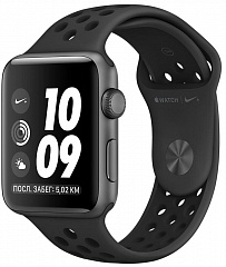 Купить Умные часы Apple Watch Nike+ Series 3 38 mm (Space Grey/Black Sport Band)