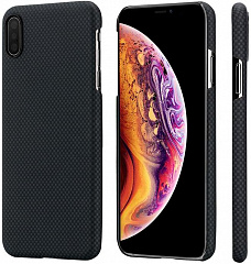 Купить Чехол Pitaka Aramid Case Plain (KI9002XM) для iPhone XS Max (Black/Grey)
