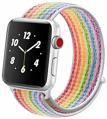 Купить Ремешок COTEetCI W17 Magic Tape (WH5225-RB) для Apple Watch Series 2/3/4 38/40mm (Rainbow)