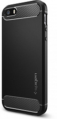 Купить Чехол Spigen Rugged Armor (041CS20167) для iPhone 5/5S/SE (Black)