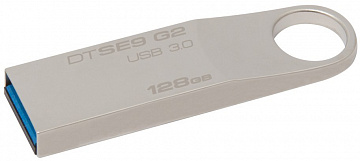 Купить USB-накопитель Kingston DataTraveler SE9 G2, 128Gb, USB 3.0 DTSE9G2/128GB (Silver)