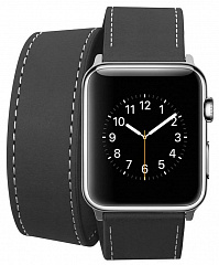 Купить Ремешок Cozistyle Double Tour Leather (CDLB010) для Apple Watch/Series 2/3/4 42/44mm (Black)