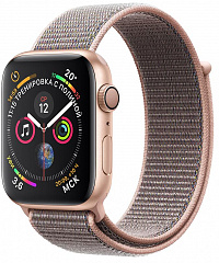 Купить Умные часы Apple Watch Series 4 44 mm with Sport Loop (Gold/Pink Sand)