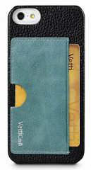 Купить Чехол Vetti Prestige Series Leather Snap Card Holder (IPO5LESCHBKLC3) для iPhone 5/5S/SE (Black/Vintage Lake Blue)