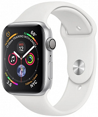 Купить Умные часы Apple Watch Series 4 44 mm (Silver/White)