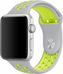 Купить Ремешок COTEetCI W12 (WH5216-TS-YL) для Apple Watch series 2/3/4 38/40mm (Silver/Yellow)