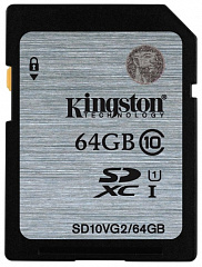 Купить Карта памяти Kingston SDXC 64Gb Class 10 U1 UHS-I SD10VG2/64GB (Silver)