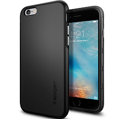 Купить Spigen Thin Fit Hybrid (SGP11730) - чехол для iPhone 6/6S (Black)