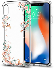 Купить Чехол Spigen Liquid Crystal (057CS22655) для Apple iPhone X (Blossom Nature)