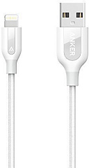 Купить Кабель для iPod, iPhone, iPad Anker PowerLine+ 0.9m (A8121H21) Lightning to USB (White)