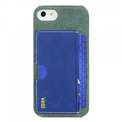 Купить Чехол Vetti Prestige Series Leather Snap Card Holder (VAPIPO5LESCHLBVT1) для iPhone 5/5S/SE (Vintage Lake Blue/Vintage Shine Blue)