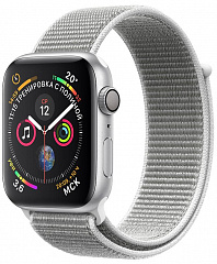 Купить Умные часы Apple Watch Series 4 44 mm with Sport Loop (Silver/White Shell)