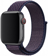 Купить Ремешок COTEetCI W17 Magic Tape (WH5226-DL) для Apple Watch series 2/3/4 42/44mm (Indigo)