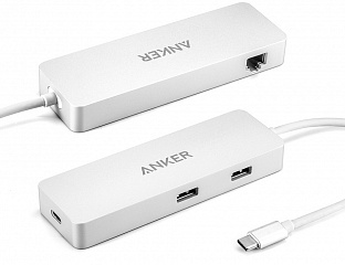 Купить Хаб Anker Premium USB-C Hub with Ethernet A8302H41 (Silver)